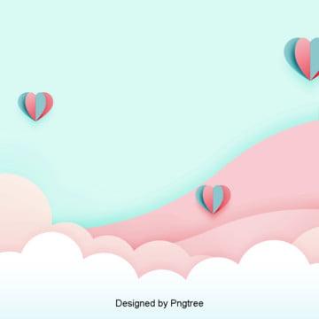 pink biru romantis hari valentine bentuk latar belakang , Indah, Hari Valentine, Fantasi imej latar belakang
