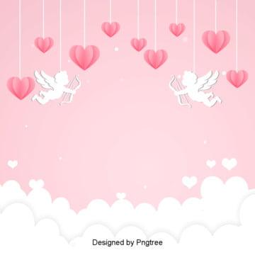 cupid lễ tình nhân thiết kế nền hồng yêu thương , Cupid, 唯美, Ngày Lễ Tình Nhân Ảnh nền