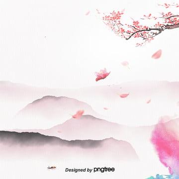 गुलाबी स्याही और रंग पारंपरिक आड़ू विज्ञापन विद्युत वाणिज्यिक कला स्याही चित्रकला पृष्ठभूमि , चीन पवन, पारंपरिक, वाणिज्यिक पृष्ठभूमि छवि
