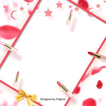 uma beleza de fundo vermelho  pétalas , Batom, A Estética, Maquiagem Imagem de fundo