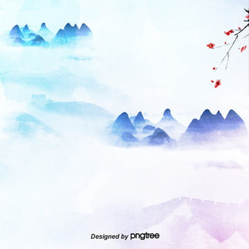 minimalist रंग हल्के रंग स्याही परिदृश्य स्याही चित्रकला बिजली वाणिज्यिक विज्ञापन पृष्ठभूमि , चीन पवन, बादल, पारंपरिक पृष्ठभूमि छवि