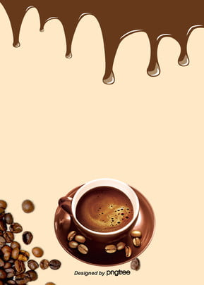 simple style coffee bean food and drinks poster background , Coffee, Coffee Bean, Poster Background image