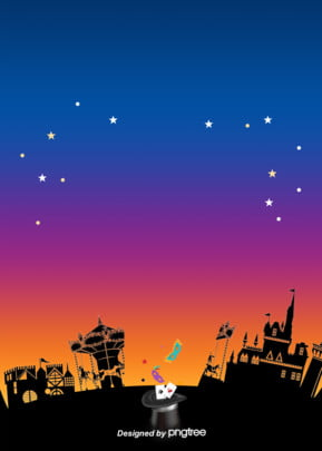हेलोवीन कैसल रात आकाश की पृष्ठभूमि डिजाइन हेलोवीन महल रात पृष्ठभूमि छवि