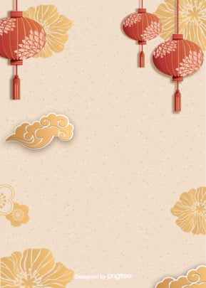 a nuvem de fundo dourado lanterna , China Vento, Moire, O Festival Da Primavera Imagem de fundo