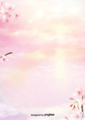 gradual background design of pink flowers , Watercolor, Gradual Change, Pink Background image