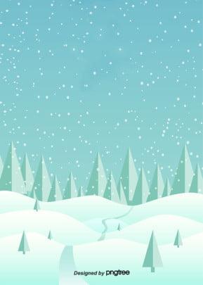 雪樹和雪花背景在冬天 , 雪, 二十四節氣, 冬天 背景圖片