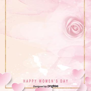 耽美ピンク三八婦人デーの背景 , 三八の女性の日, 唯美, 活動 背景画像