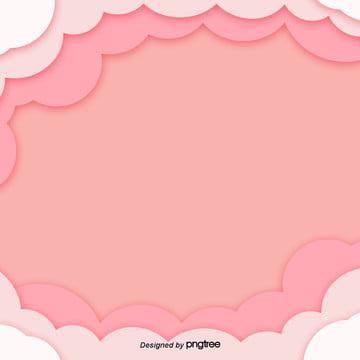オレンジ色雲3 dカット効果背景デザイン , 3 D, 紙切り, カットスタイル 背景画像