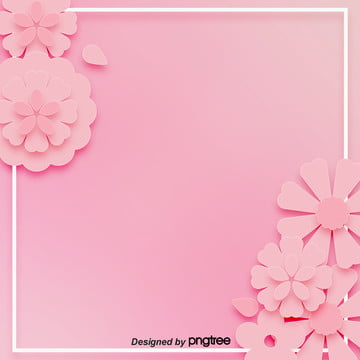 Background of Pink Stereo Paper cut Fenghua 38 Womens Day , Background Of March 8th Womens Day, Paper Cutting Wind, Lovely Background image