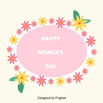 Flache frauentag schöne blumen  im hintergrund , Der Frauentag, Süß, Kleine Hintergrundbild