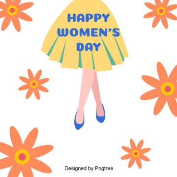 Frau flach der frauentag blumen hintergrund   elemente , Der Frauentag, Frau, Frauen Der Mode - Hintergrundbild