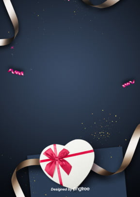 background design of ribbon for heart shaped gift box , Ribbon, Heart-shaped, Valentines Day Background image