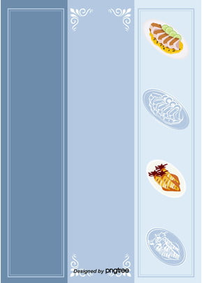 藍色食物食品熱狗甜品西餐選單背景 , 中餐, 熱狗, 甜品 背景圖片