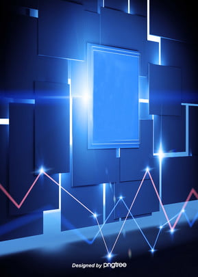 科技風藍色科幻背景 , 炫光, 電腦, 科學 背景圖片