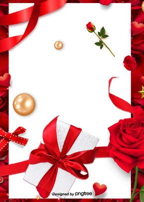紅色玫瑰花禮盒簡約背景 , 玫瑰花, 禮盒, 簡約 背景圖片