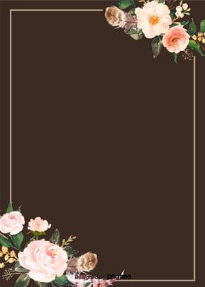 Fresh flower frame design background Fresco Flores Flores Imagem Do Plano De Fundo