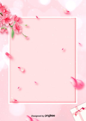 pink flower petal border background , Wedding Celebration, Soft Pale, Valentines Day Background image