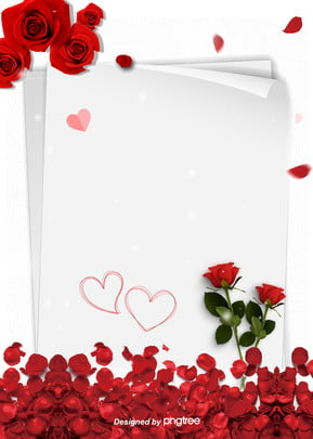 romantic background of white simple rose proposal on valentines day , Wedding, Valentines Day, Propose Background image