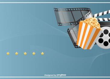 o filme estreou o vídeo de fundo de comércio, Lançamento, Atividades, Pipoca Imagem de fundo