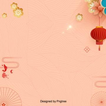 中国風花灯籠の春節の背景 , 中国風, 雲の紋, 新年の背景 背景画像