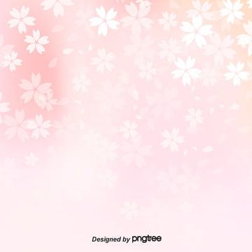 분홍색 벚꽃 둥둥 소재 배경 , 벚꽃, 로맨틱, 부드러운 창백한 배경 이미지