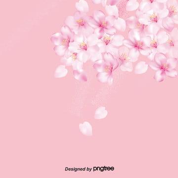 떠 다니는 분홍색 벚꽃 꽃잎의 배경 , 일본식, 벚꽃, 벚꽃 꽃잎 배경 이미지