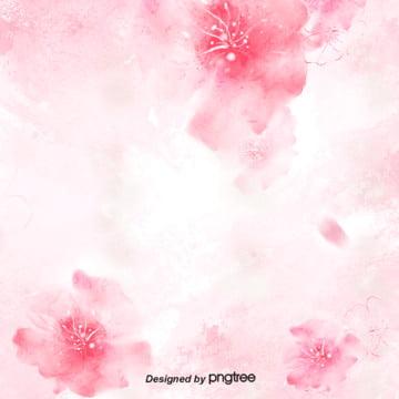 手繪風櫻花背景圖片 , 化妝品背景, 可愛, 手繪風 背景圖片