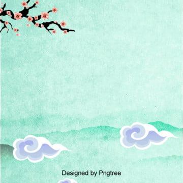 चीनी बादल पैटर्न बेर के पेड़ की शाखाओं पृष्ठभूमि से , चीन पवन, मौआ, चोटियों पृष्ठभूमि छवि