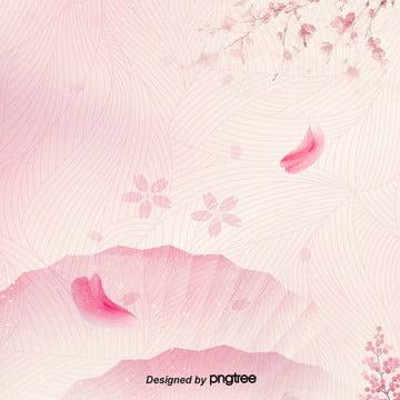 गुलाबी चेरी खिलना जापानी प्रशंसक पैटर्न रोमांटिक पृष्ठभूमि , महिला, प्रशंसक, जापानी पृष्ठभूमि छवि