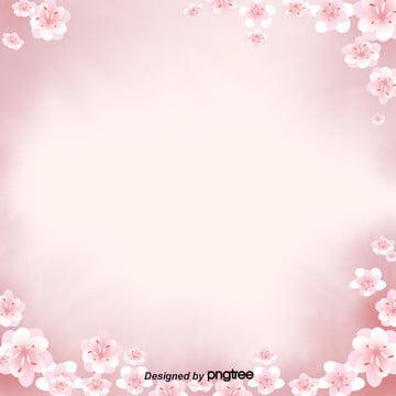簡約日本櫻花唯美背景 , 唯美, 日式, 日本 背景圖片