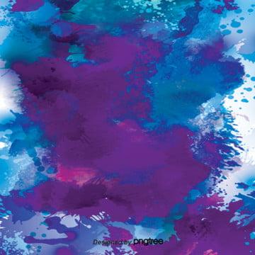 藍色水彩墨水濺背景 , 墨跡, 水彩, 潑墨 背景圖片