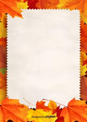 गोल्डन शरद ऋतु मेपल का पत्ता फ्रेम पृष्ठभूमि , मेपल, पत्ते, शरद ऋतु पृष्ठभूमि छवि