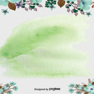Green Gradual Watercolor Plant Background, Botany, Watercolor, Soft Pale, Background image