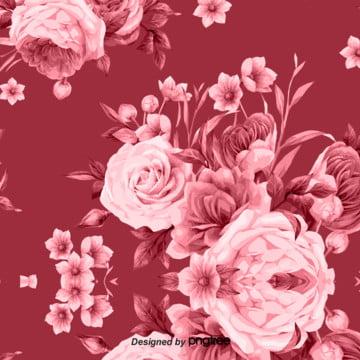 粉紅色的花背景 , 婚禮慶典, 情人節, 植物學 背景圖片