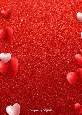 Lễ tình nhân nền đỏ hình trái tim 婚庆 Hình Trái Hình Nền