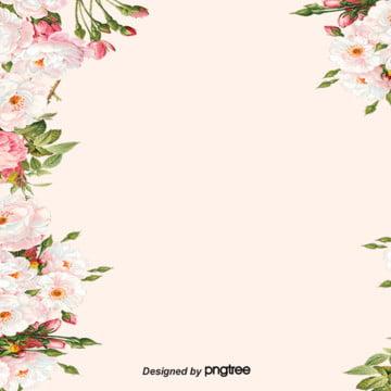柔軟的蒼白花植物邊框背景 , 婚禮慶典, 情人節, 植物學 背景圖片