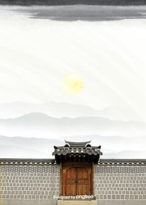 中国風建築の壁の背景 , 中国風, 古い建築, 壁の体 背景画像