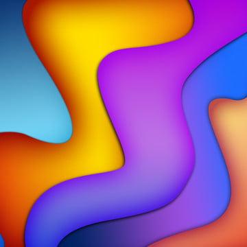 Chất lỏng màu kết hợp Gradient trừu tượng Ba Chiều Abstract Hình Nền