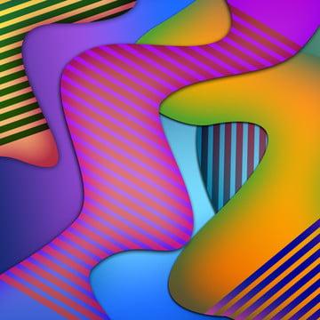 Sọc trừu tượng mang chất lỏng Gradient Ba Chiều Abstract Hình Nền