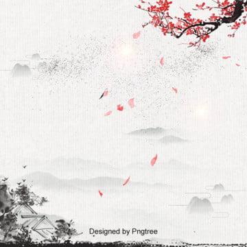 पारंपरिक चीनी स्याही चित्रकला बेर खिलना सौंदर्य पृष्ठभूमि , सुंदर, बेर, स्याही पेंटिंग परिदृश्य पृष्ठभूमि छवि