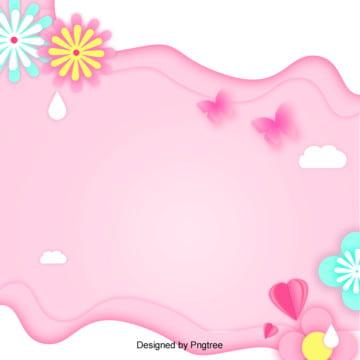 唯美粉色爛漫花朵背景 , 促銷, 情人節, 浪漫 背景圖片