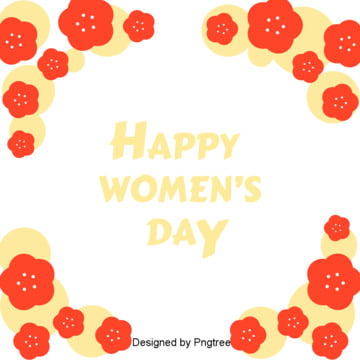 Background Elements of Flowers on Womens Day , March 8th Womens Day, Lovely, Beautiful Background image