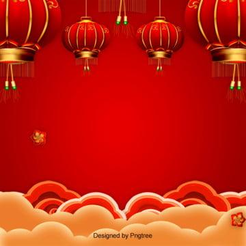 中国風新春小年元宵の背景 , 2019年, 喜気, 新年 背景画像