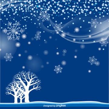 藍色冬季雪景背景圖 , 下雪, 冬, 冬天 背景圖片