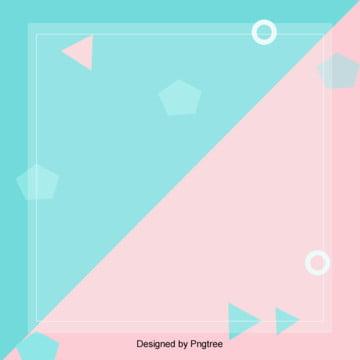 創意清新風粉藍系背景 , 幾何, 創意, 清新 背景圖片