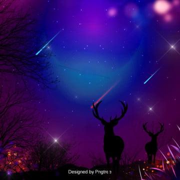 Đổ dốc màu tím dream hươu nền bầu trời đầy sao , Bầu Trời đầy Sao, Mơ Mộng, Một Ngôi Sao Băng Ảnh nền
