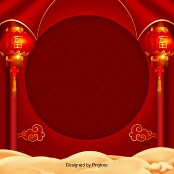 trung quốc nền đỏ gió vui đêm rằm tháng giêng , Trung Quốc Phong, Hình Tròn., Đèn Lồng. Ảnh nền