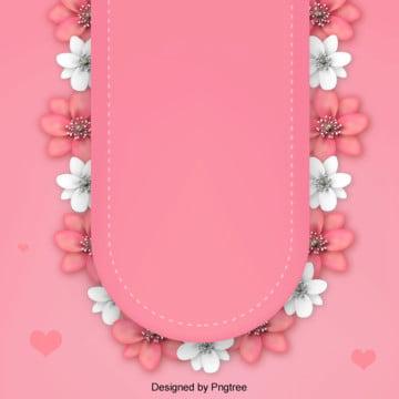 粉色清新花朵簡單背景 , 情人節, 浪漫, 愛心 背景圖片