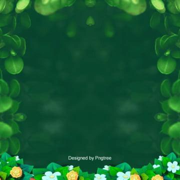 緑の春の販促簡単な背景 , 販促, 唯美, 春 背景画像