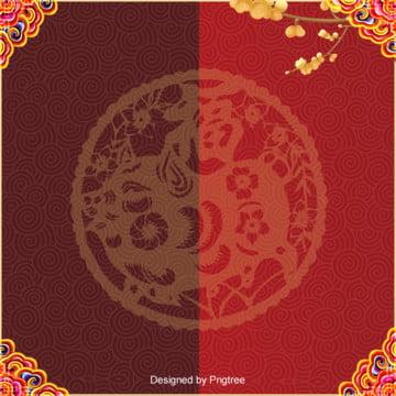 中国の伝統文化の春節のお祝いの背景 , 中国風, 古典, 新年 背景画像